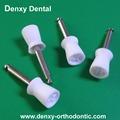 brosses de polissage dentaire serrure de style plat prophy cup brosse de fournitures dentaires