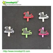 Piano shape wooden memo clip, decoration paper clip