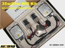 AUTOFAB - 12V 55W HID Xenon Single Bulb Lamp Headlight H1 H3 H4 H7 H8 /4300K 5000K 6000K 8000K AF-HID001-55W