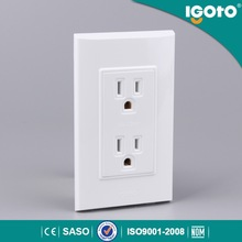 America standard wall electric / power double socket us