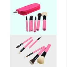 Peach color 6pcs personalized high- quality animal hair makeup powder brush