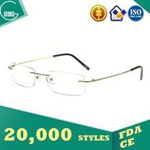 New Spectacles Design, photo lens, 18k gold optical frame