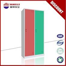 2 door metal storage locker /steel clothes locker /storage cabinet