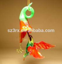 customize transparent art bird figure, OEM hummingbird figurines, hummingbird ornament