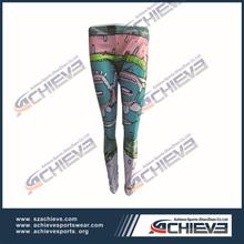 New style fittness leggings women girls custom mesh and polyester legging