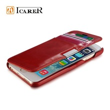 Card Slot Genuine Leather Flip Wallet Case For iPhone 6