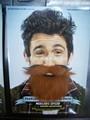 Engraçado falsa barba para venda festa bigode barba falsa mou-0037