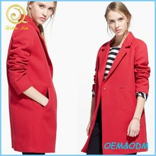 Women New Arrival Long Sleeves Lapel Coats