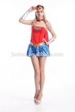 Para mujer de las mujeres de lujo trajes de vestir de la mujer maravilla de la muchacha tamaños 6 - 16
