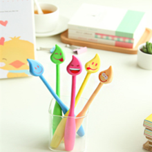 School stationary smily face bendy ballpoint pen wholesale