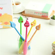 School stationary smily face bendy ballpoint pen wholesale