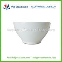 FDA, LFGB, CA65,84/500/EEC approved plain white cheap ceramic soup bowl