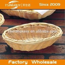 TSINGBUY Handicraft Cheap Plastic Rattan Wire Basket for Fruit Bread TSBK33