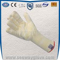SEEWAY warm white cotton inside oven glove