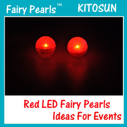 Fairy Pearls!!! Red Magical LED Berries Battery Operated Mini LED Glowing Ball Firefly Fairy LED Light Wedding Party Decor