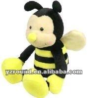plush yellow bee toy baby plush bee toys
