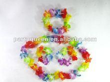 hawaiian flower lei necklace,garland and bracelet H-P010