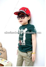 2012 fashion lovely photo frame letter children's T-shirt