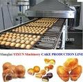 China venda quente populosas e creme de enchimento duplo pedaços de bolos de equipamentos de produção