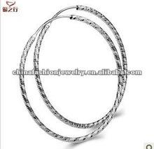 Elegant Big Silver Hoop Earrings