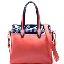 Brand new factory 2012 women PU bag,Europestyle lady leisure candy color tote&messenger bagE125506