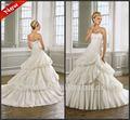 Spätestes Brautkleid-festes Korsett weg vom weißen Laylers Rock-Zug eine Linie Hochzeits-Kleider