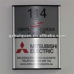 aluminium sign signage
