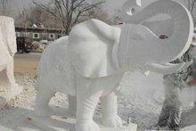 Stone elephant carving sculpture