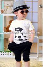 2012 fashion lovely panda cartoon children's T-shirt