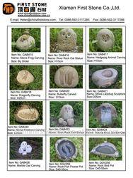 Mini natural rock carving