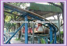 Attractions amusement park equipment slide dragon rides mini roller coaster kids ride for sale