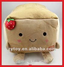 2012 new cute plush strawberry cushion