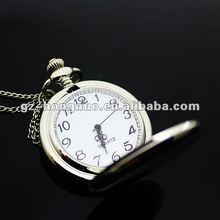 "Ladies White Silver Lady Necklace Girls Pendant Women Quartz Pocket Watch, Dia 1.77"", Chain 31.5"" HN1309"