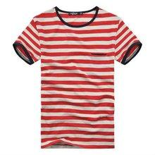children 100%cotton short sleeve yarn dyed stripe tshirt