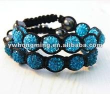 Charming 2 rows shamballa bracelet!!2012 Hot Sale Shamballa bracelet!!