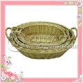 2012 más caliente de la mano - tejido grandes cestas de almacenamiento con el mango