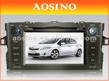 Double din special car dvd player / car radio / car audio for TOYOTA AURIS (2007-2011) with GPS navigation