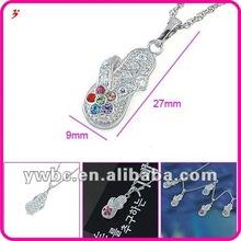 Fashion cz philippine jewelry shoe necklace (A119468)