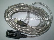 UV waterproof resistant round usb2.0 extension cable length could be 20M USB extension cable 10M
