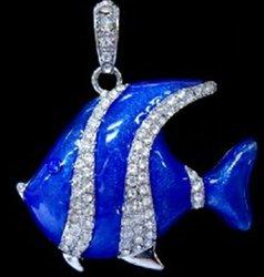 blue sea fish jewerly usb flash wholesaler necklace usb drivers 2gb usd2.0
