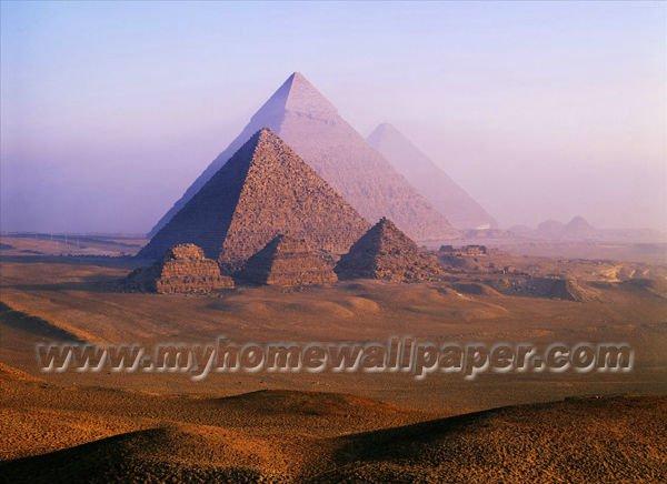 Las pir mides de egipto del paisaje del desierto para - Papeles pintados paisajes ...