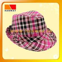 make fedora hat with self band and loop trim