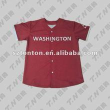Cheap made sublimation girls' baseball tshirt