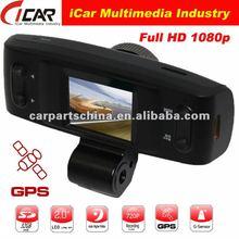 New/Hot, (GS1000)AMB solution 1080P Full HD GPS+G-Sensor+HDMI 1920x1080 30FPS car video camera recorder with gps