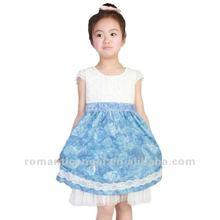 2012 hot sale qute colorful bowknot flower girls' dresses