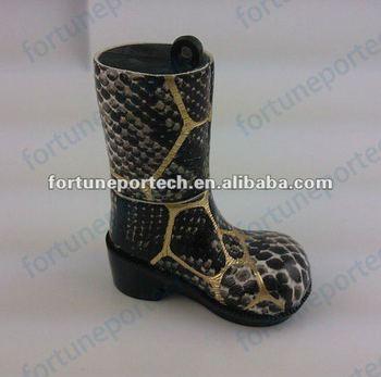 Fashion snake skin boot USB flash memory