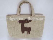 cheap jute bag lady shopping handbag jute bag