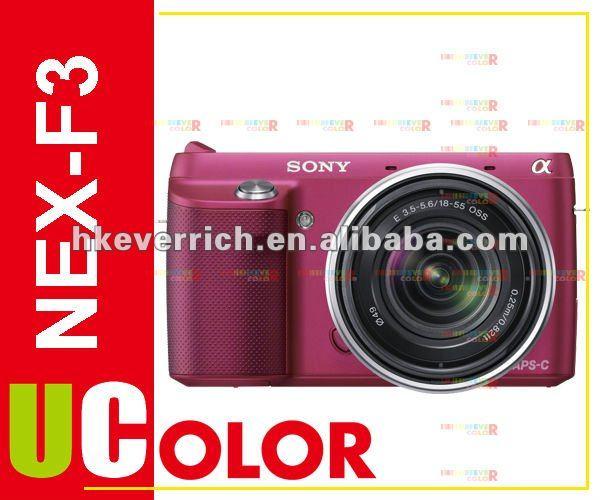 Genuine Sony NEX-F3 NEX-F3D Digital Camera + 16mm f/2.8 + 18-55mm 2 Lens Kit Red