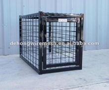 Black Powder Coated Dog Crate