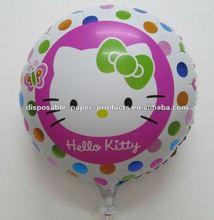 Hello Kitty Party Supplies, 18 inch Hello Kitty Rainbow Round Foil Balloon Mylar Balloons